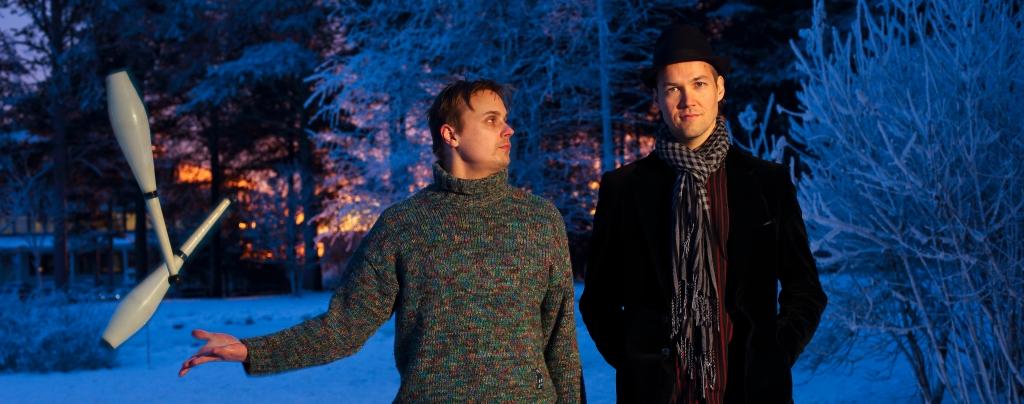 Runosirkus-Duo Juha Rautio & Miika Nuutinen (kuva Ryoko Uyama 2013)